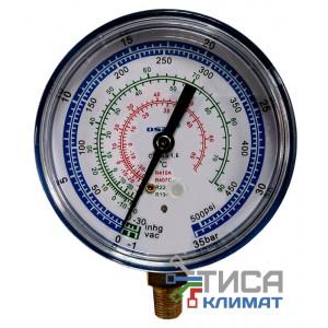Манометр низкого давления Ø80мм  WK8002L (R410A,R407C,R22,R134a)