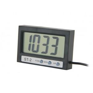 Цифровой термометр ST-2 с выносным датчиком и часами (100 см)