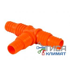 Тройник для дренажа (Т-образный) D 16мм  D 12мм